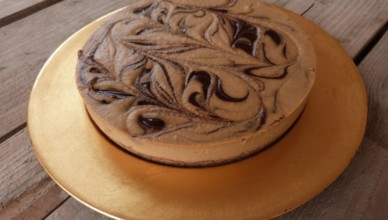 Raw Orange Chocolate Swirl Cake
